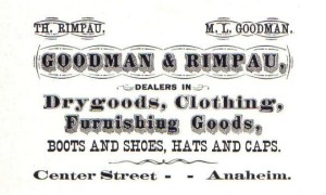 Goodman & Rimpau Buisiness Card