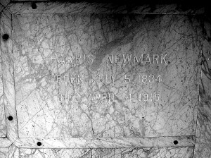 Harris Newmark's Plauque at Home of Peace Cemetery in Los Angeles