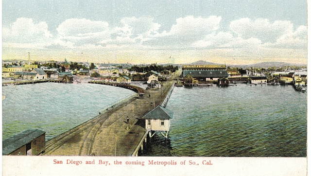 Early San Diego Harbor, circa 1890. #WSPostcard Collection