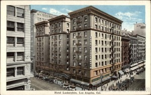 Hotel Lankershim in downtown Los Angeles, Vintage Postcard