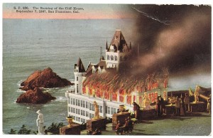 The Cliff House Burns in 1907