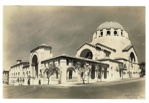 Postcard of Congregation Emanu-El in the late 1920's