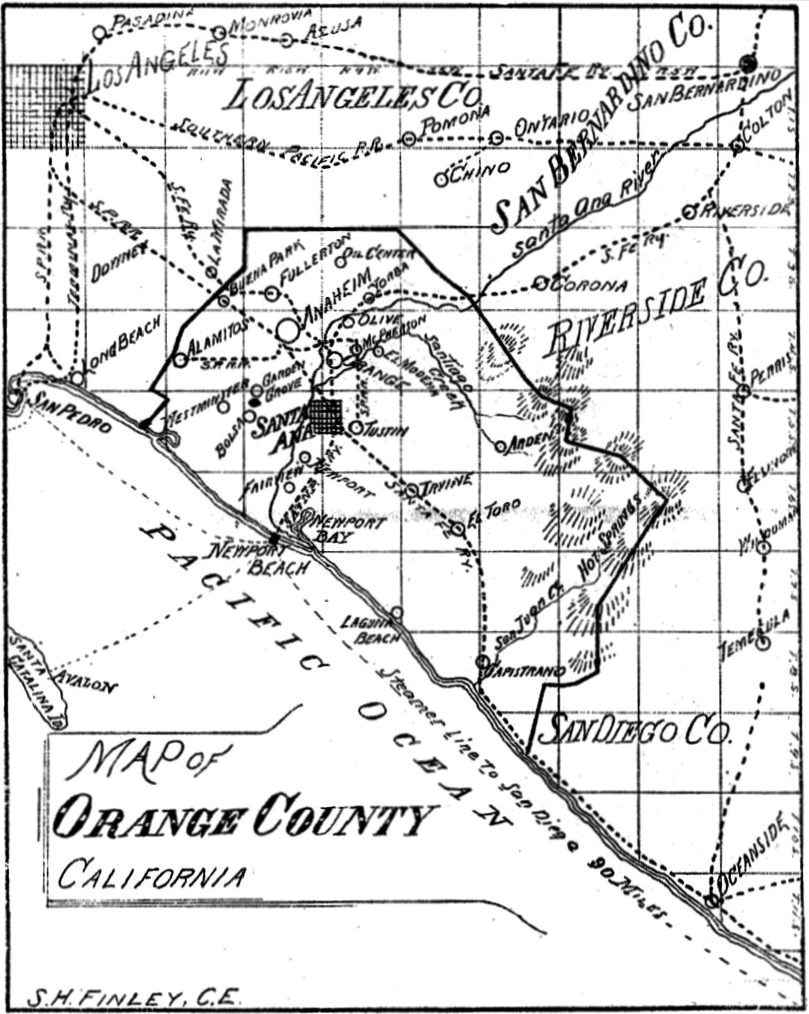 Map of Orange County, 1889