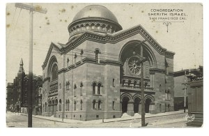 Congregation Sherith Israel in its 4th Building at completion. Old Postcard