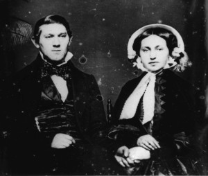 John & Adelaide Steinman, First known Jewish photo taken in San Francisco WS 13/1889