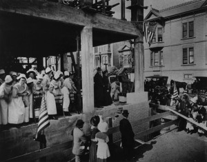 Laying of the Cornerstone for the New Mt. Zion Hospital in 1912. WS 14/1996