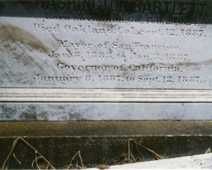 Governor Bartlett's Tombstone WS 20/2853