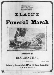 "Sheet Music showing of Toby Rosenthal's ""Elaine"" WS 27/3991"