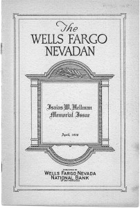 Wells Fargo Nevadan Memorial Book