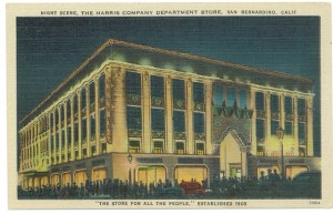 Harris Department Store, San Bernardino, circa 1970, #WSPostcard Collection