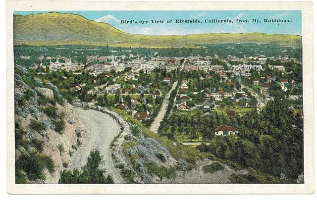 Redlands from the top of Mt.Rubidoux circa 1900. #WSPostage Collection