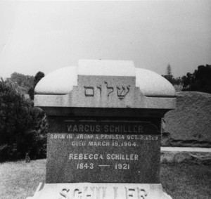 Tombstone of Marcus and Rebecca Schiller, WS#1511