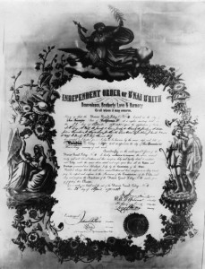Paradise Lodge's Charter, 1875. WS#1567