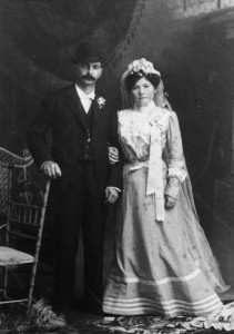 Solly & Rose Kinderman Wedding Picture, 1902, WS#1599