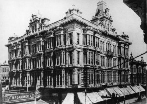 The Phillips Block #1. LA's first Skyscraper. 1890s WS#3005