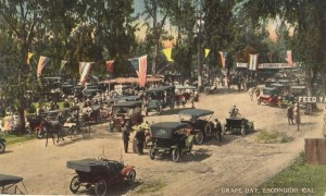 Grape Day in Escondido, 1913. Postcard