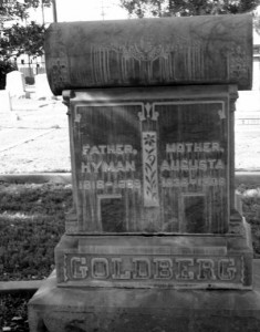 The Goldberg Tombstone in San Bernardino, CA #WS7881