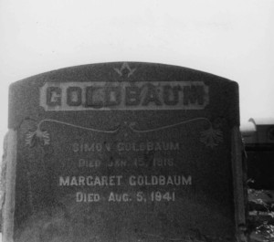 Tombstone of Simon & Margaret Goldbaum, Home of Peace Cemetery, San Diego, #WS1508