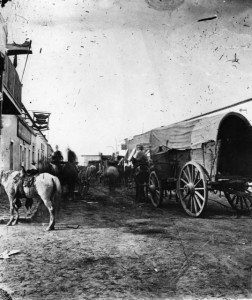 Downtown Tucson, Arizona Territory in 1874, #WS1275