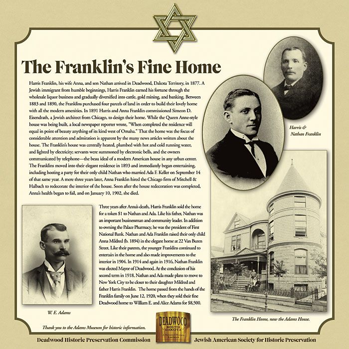 The Franklins' Fine Home in Deadwood, #WS7613