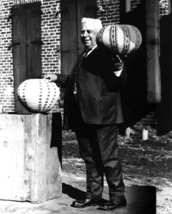 Abe Cohn with Dat-So-La-Dee Basket in Carson City, Nevada, #WS0200