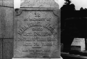 Tombstone of Mark Jacobs. #WS1591