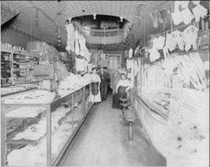 Interior of City of Paris store owned by Joseph and Adelheid Schwartz