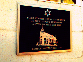 Historic Plaque at First Temple Location