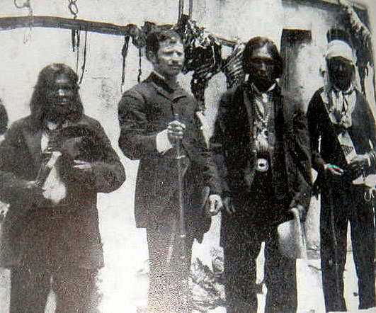 Rare Photo of Solomon Bibo and Acama Indians JMAW found in Las Vegas, New Mexico.
