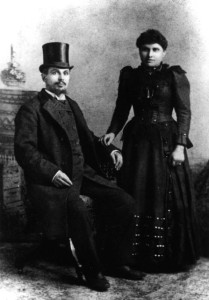 """Reverend"" Benjamin Papermaster & Anna Levito's Wedding Photo at Grand Forks, North Dakota, 1892 #WS0230."