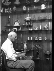 Eugene J. Stern in his later years with his collections. #WS0449