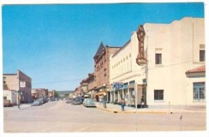 Las Vegas, New Mexico, Downtown in early 1940's, Postcard