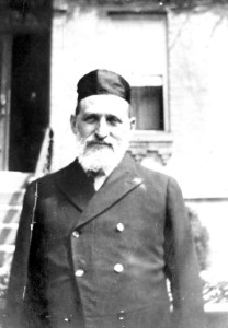 "Rabbi Gendaligh Halpern, first ""official"" rabbi of Bikur Cholim, 1905-1910. #WS0179"