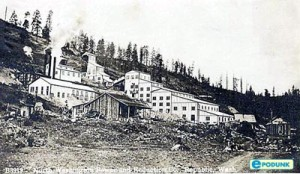 An 1800's mine in Republic, Washington