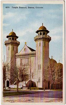 Temple Emanu-El of Denver, Old Postcard