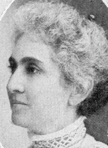 Sophia Brann, first President of the Sisterhood.