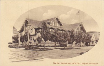 Hoquiam Elks Lodge circa1900-1910, Postcard