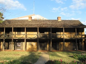 Nacogdoches Old Fort where Adolpus Sterne was chained in celler while awaiting execution - before he was pardoned.