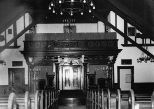 Sanctuary of the 2nd Temple Israel Building, circa 1906, #WS1798
