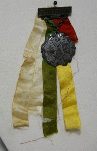Masonic Lodge Badges & Ribbons worn at the Synagogues Groundbreaking Celebration, 1910.
