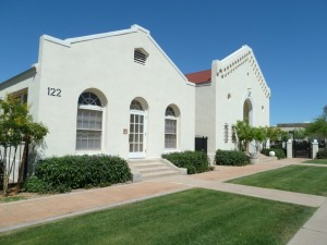 The First Congregation Beth Israel of Phoenix, Now refurbished as the Culver-Plotkin Center.