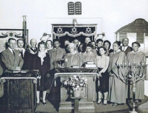 First Interracial service held at Stone Avenue location of Temple Emanu-El, Tucson, 1947