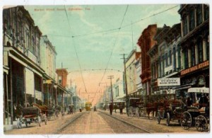 Galveston Commercial Street in the 1890's.