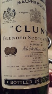 Bottle of Scotch whiskey, private label created for Simon Levi Co.