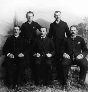 The Levi Brothers, 1879. Back Row: Rudolf & Adolph Levi. Front Row: Isaac, Simon & Nathan Levi. #WS1525