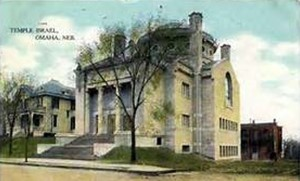 2nd Location of Temple Israel of Omaha, Postcard