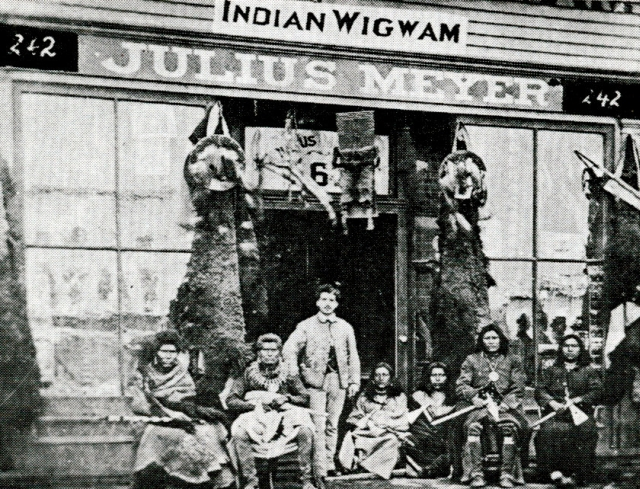 Julius Meyer at the Wigwam Store in Omaha