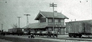 "The Newman Train Station at the ""end of the line."""