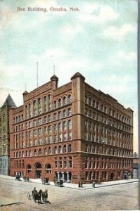 Home of Edward Rosewater's Omaha Morning Bee Newspaper. Postcard