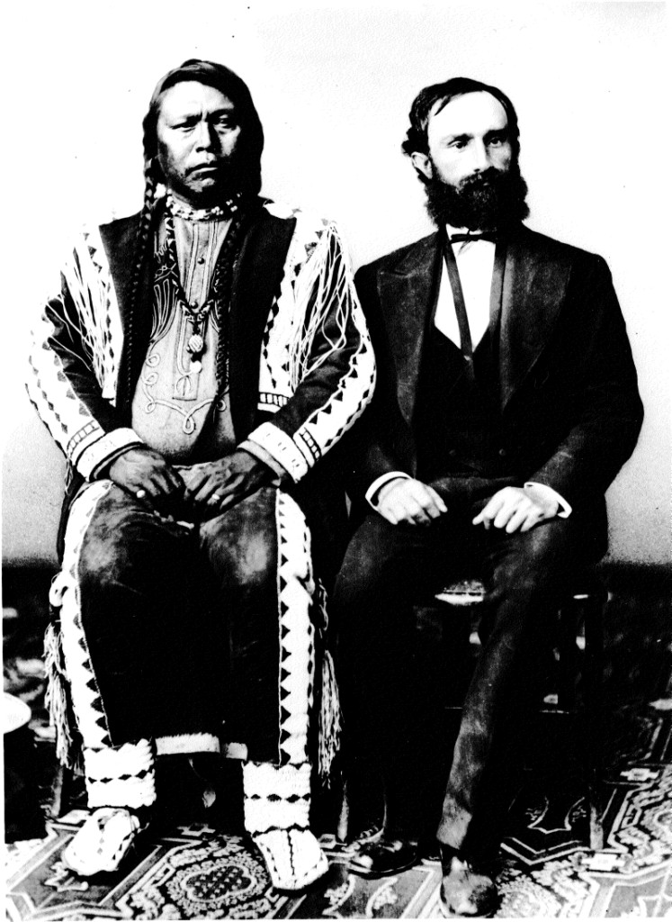 Chief Ouray of the Utes and Otto Mears, one of the most famous photos of the Wild West.